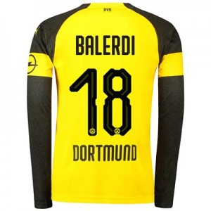 BVB Home Shirt 2018-19 - Long Sleeve with Balerdi 18 printing