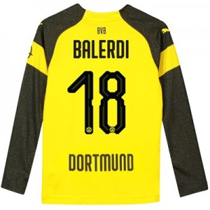 BVB Home Shirt 2018-19 - Kids - Long Sleeve with Balerdi 18 printing