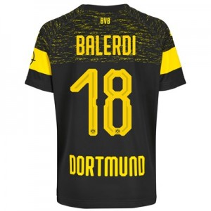 BVB Away Shirt 2018-19 with Balerdi 18 printing