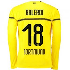 BVB Cup Home Shirt 2018-19 - Kids - Long Sleeve with Balerdi 18 printing