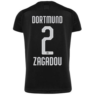 BVB Away Shirt 2019-20 with Zagadou 2 printing