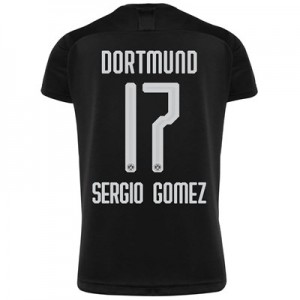 BVB Away Shirt 2019-20 with Sergio Gomez 17 printing