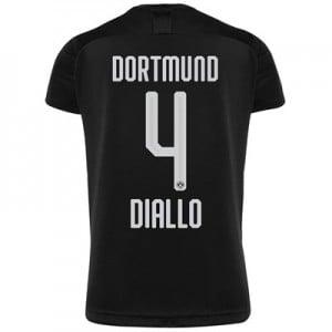 BVB Away Shirt 2019-20 - Kids with Diallo 4 printing