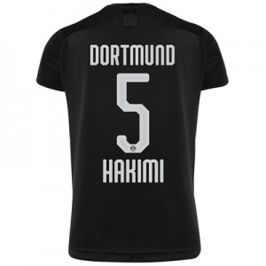 BVB Away Shirt 2019-20 - Kids with Hakimi  5 printing