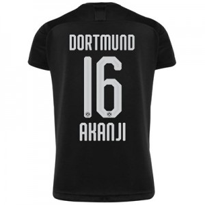 BVB Away Shirt 2019-20 - Kids with Akanji 16 printing