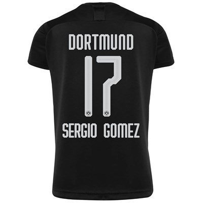 BVB Away Shirt 2019-20 - Kids with Sergio Gomez 17 printing