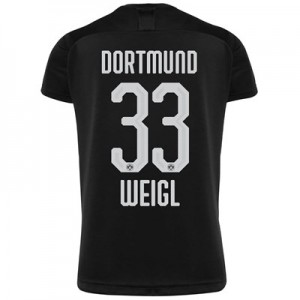 BVB Away Shirt 2019-20 - Kids with Weigl 33 printing