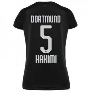 BVB Away Shirt 2019-20 - Womens with Hakimi  5 printing