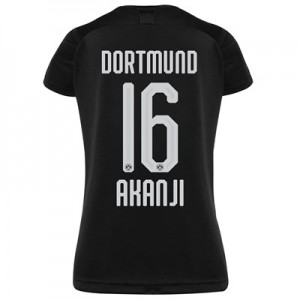 BVB Away Shirt 2019-20 - Womens with Akanji 16 printing