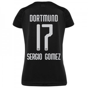 BVB Away Shirt 2019-20 - Womens with Sergio Gomez 17 printing