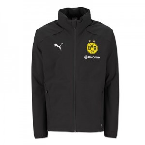 BVB Training Rain Jacket - Black