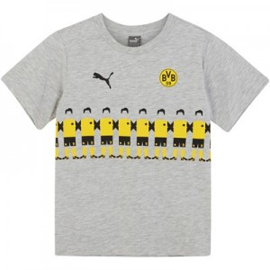 BVB Fan Line Up T-Shirt - Light Grey - Kids