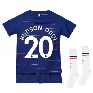 Chelsea Home Stadium Kit 2018-19 - Little Kids with Hudson-Odoi 20 printing