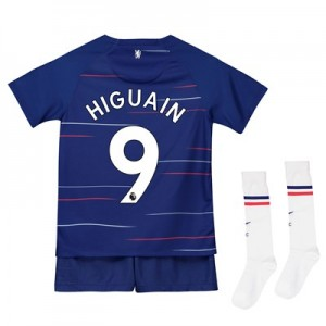 Chelsea Home Stadium Kit 2018-19 - Little Kids with Higuain 9 printing