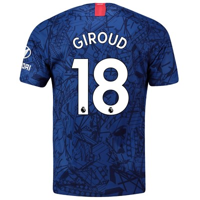 Chelsea Home Stadium Shirt 2019-20 with Giroud 18 printing