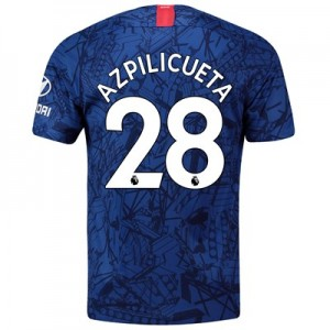 Chelsea Home Stadium Shirt 2019-20 with Azpilicueta 28 printing