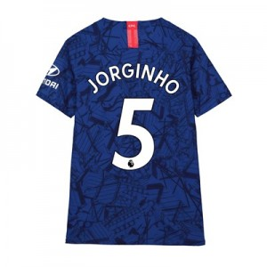 Chelsea Home Vapor Match Shirt 2019-20 - Kids with Jorginho 5 printing
