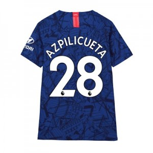 Chelsea Home Vapor Match Shirt 2019-20 - Kids with Azpilicueta 28 printing
