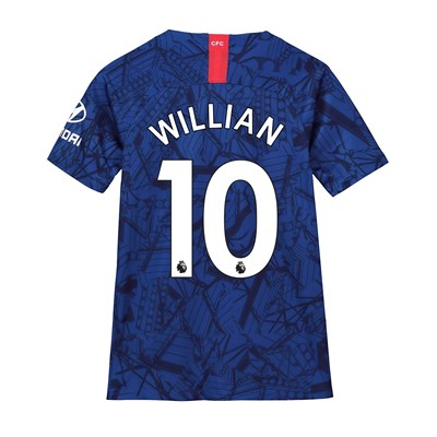 Chelsea Home Stadium Shirt 2019-20 - Kids with Willian 10 printing