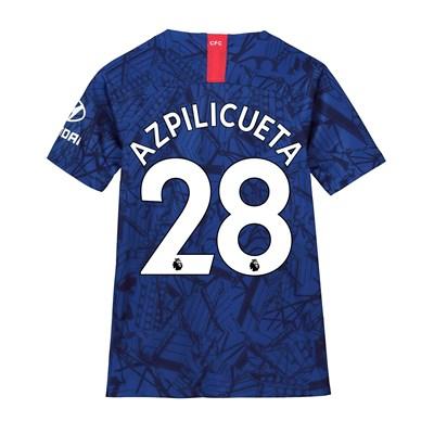 Chelsea Home Stadium Shirt 2019-20 - Kids with Azpilicueta 28 printing