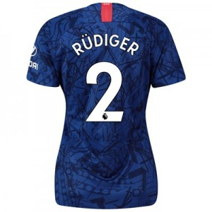 Chelsea Home Stadium Shirt 2019-20 - Womens with Rüdiger 2 printing