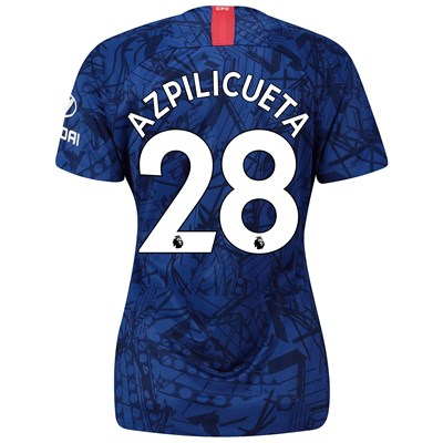 Chelsea Home Stadium Shirt 2019-20 - Womens with Azpilicueta 28 printing