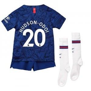 Chelsea Home Stadium Kit 2019-20 - Little Kids with Hudson-Odoi 20 printing