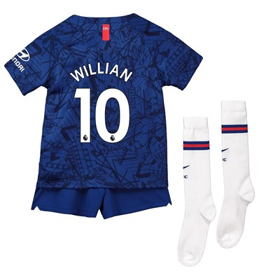 Chelsea Home Stadium Kit 2019-20 - Little Kids with Willian 10 printing
