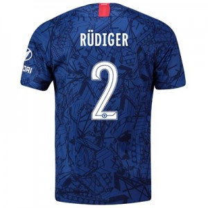 Chelsea Home Cup Stadium Shirt 2019-20 with Rüdiger 2 printing