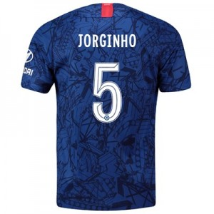 Chelsea Home Cup Stadium Shirt 2019-20 with Jorginho 5 printing