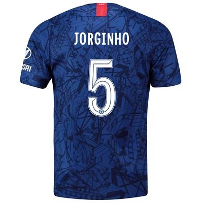 Chelsea Home Cup Stadium Shirt 2019-20 with Jorginho 5 printing