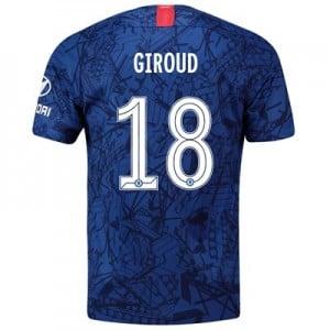 Chelsea Home Cup Stadium Shirt 2019-20 with Giroud 18 printing