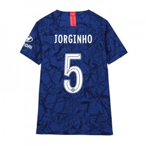 Chelsea Home Cup Vapor Match Shirt 2019-20 - Kids with Jorginho 5 printing