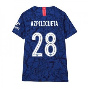 Chelsea Home Cup Vapor Match Shirt 2019-20 - Kids with Azpilicueta 28 printing