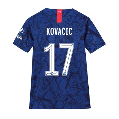 Chelsea Home Cup Stadium Shirt 2019-20 - Kids with Kovacic  17 printing