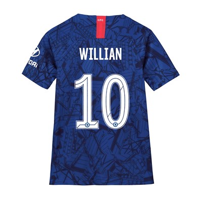 Chelsea Home Cup Stadium Shirt 2019-20 - Kids with Willian 10 printing