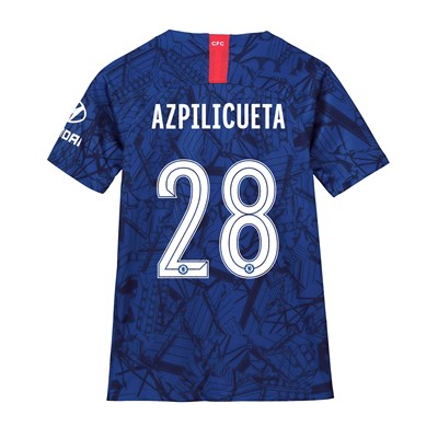 Chelsea Home Cup Stadium Shirt 2019-20 - Kids with Azpilicueta 28 printing