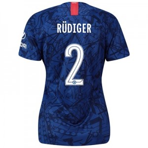 Chelsea Home Cup Stadium Shirt 2019-20 - Womens with Rüdiger 2 printing