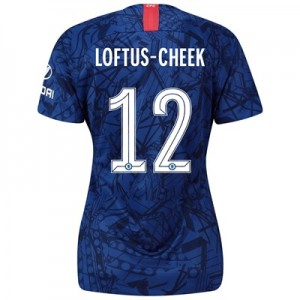 Chelsea Home Cup Stadium Shirt 2019-20 - Womens with Loftus-Cheek 12 printing