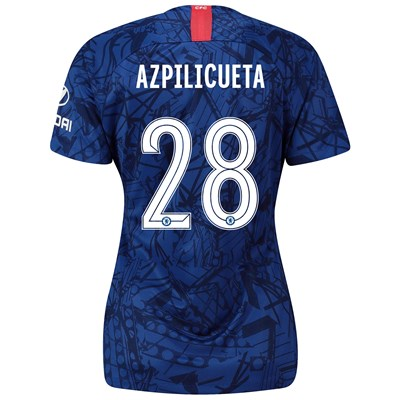 Chelsea Home Cup Stadium Shirt 2019-20 - Womens with Azpilicueta 28 printing