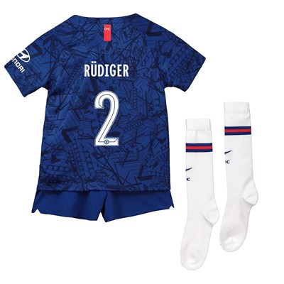Chelsea Home Cup Stadium Kit 2019-20 - Little Kids with Rüdiger 2 printing