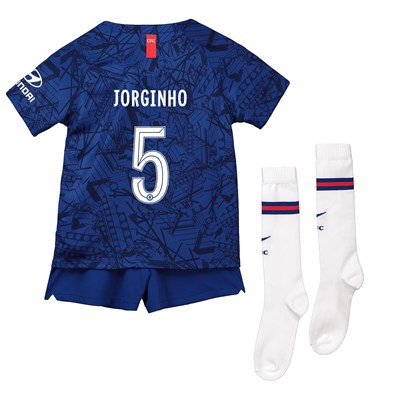 Chelsea Home Cup Stadium Kit 2019-20 - Little Kids with Jorginho 5 printing