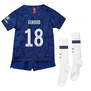 Chelsea Home Cup Stadium Kit 2019-20 - Little Kids with Giroud 18 printing