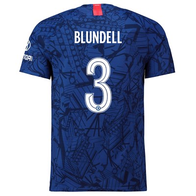 Chelsea Home Cup Vapor Match Shirt 2019-20 with Blundell 3 printing