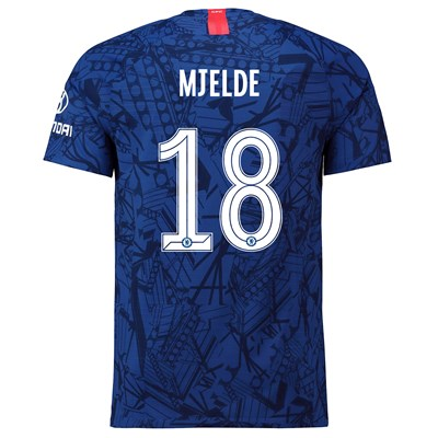 Chelsea Home Cup Vapor Match Shirt 2019-20 with Mjelde 18 printing