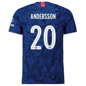 Chelsea Home Cup Vapor Match Shirt 2019-20 with Andersson 20 printing