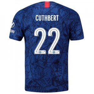Chelsea Home Cup Stadium Shirt 2019-20 with Cuthbert 22 printing