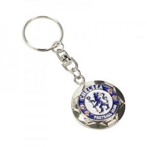 Chelsea Silver Football Keyring