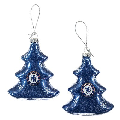Chelsea 90mm Tree Shaped Decoration - 2 Pack