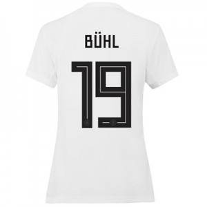 Germany Home Shirt 2019 - Womens with Bühl 19 printing